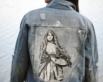 Women and Their Pots Denim Jacket