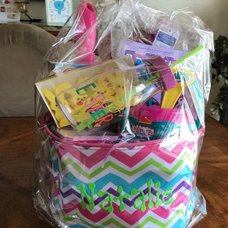 Girls Chevron EASTER Bucket Free Shipping