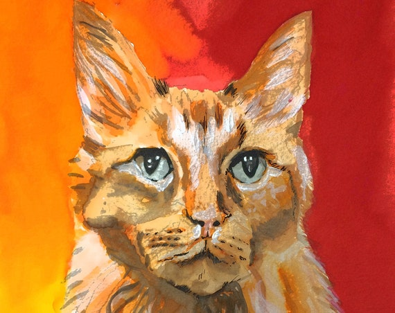 Custom Pet Portrait, Custom Pet Memorial Drawing, Animal portrait, Painting Pet, Custom portrait, Dog portraits, Custom animal Portrait,