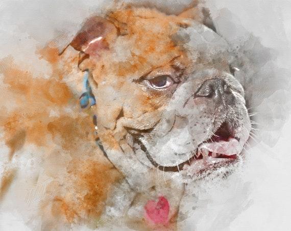 Custom Pet Portrait Dog Painting Custom Watercolor Portrait Pet Portraits Dog Memorial Personalized Pet Custom Portrait