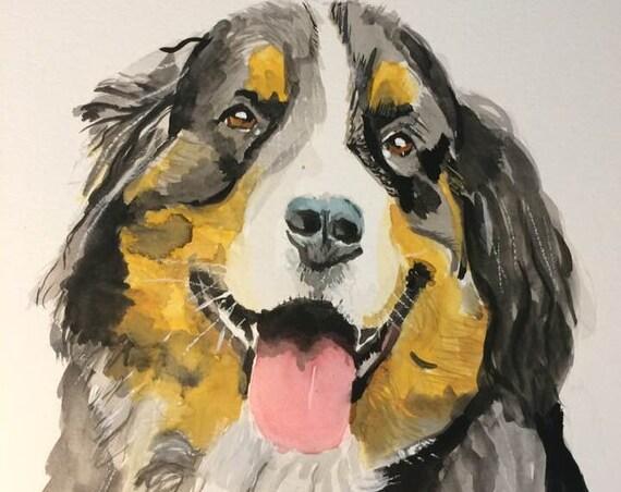 Custom Pet portrait Pet portrait painting Pet portrait Custom pet portrait Painting Pet Memorial Pet Portrait Watercolor Custom Dog Portrait