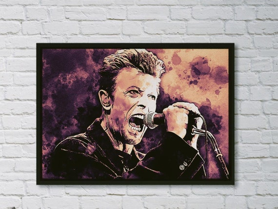 David Bowie Original watercolor painting as a instant download - Water Color Fan Illustration - Paper Crafts Scrapbook Altered Art