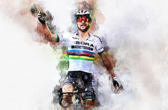 Peter Sagan racing cyclist, Sports Instant Download Printable Art, Wall Art Printable, Abstract Art, Paint Splash, Gifts for Men
