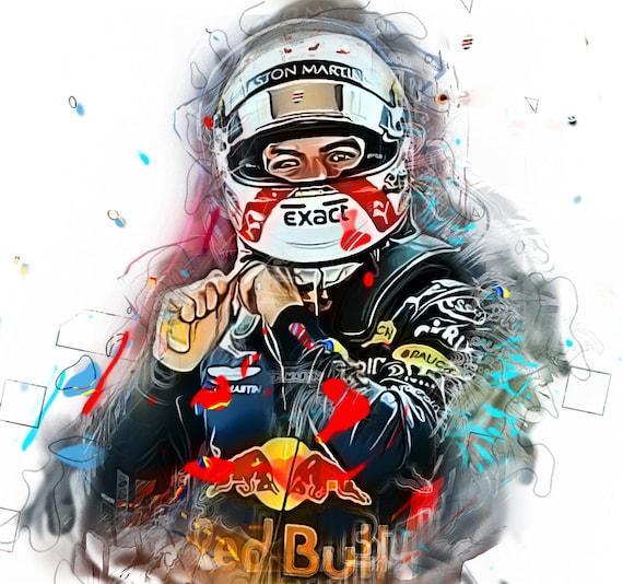 Max Verstappen Formula one driver Sports Art Print Poster, Instant Download Printable Artrints, Paint Splash, Gifts for Men