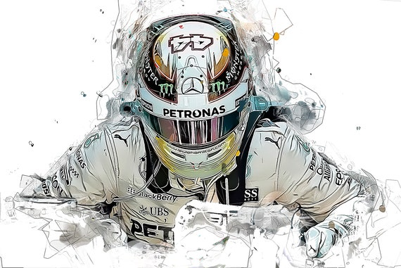 Lewis Hamilton World Champion 2018 Formula one driver Sports Art Print Poster, Instant Download Printable Artrints, Gifts for Men