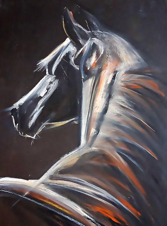 Digital Download Printable Art - Water Color Horse Illustration - Horse Art