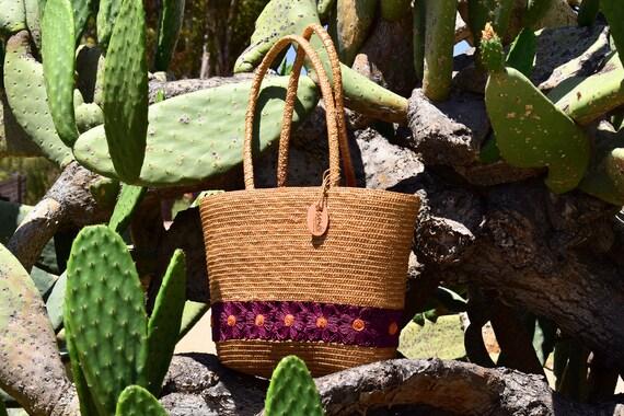 Vintage Liz Claiborne Floral Straw Bag, Boho Beach