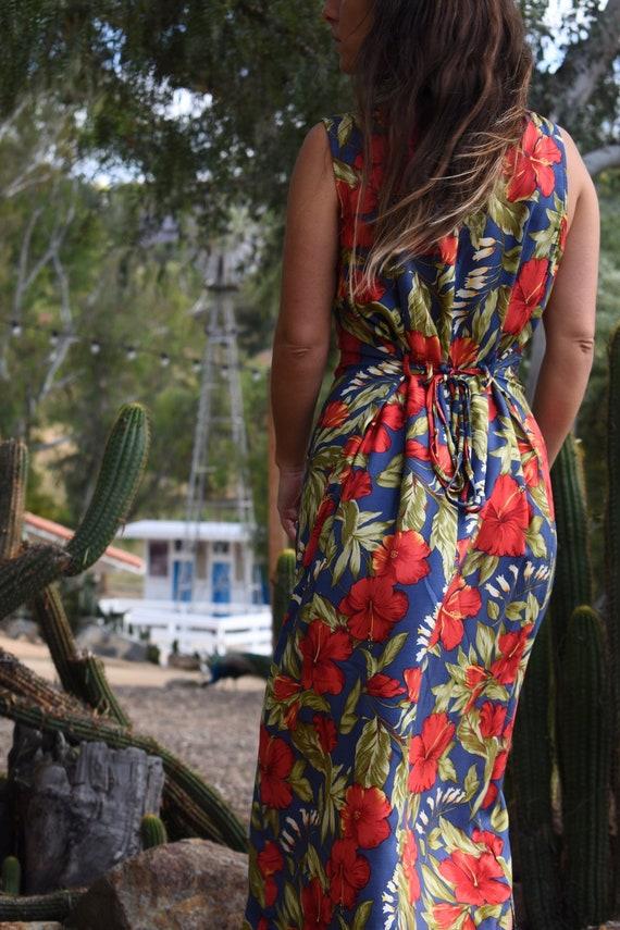 TROPICAL SUNDRESS JUMPER vintage 90s style fashion maxi dress