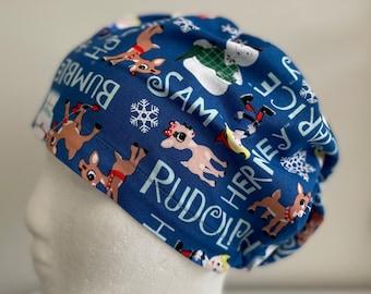 Scrub hat, Surgical cap. Christmas