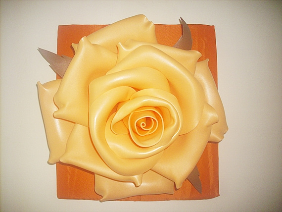 flower wall pictures peach rose on a orange background 3d etsy etsy