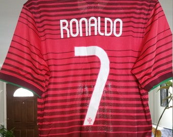 df52829c172 Vintage  7 Ronaldo Portugal national team World Cup Soccer Throwback  handmade jersey Size M and L