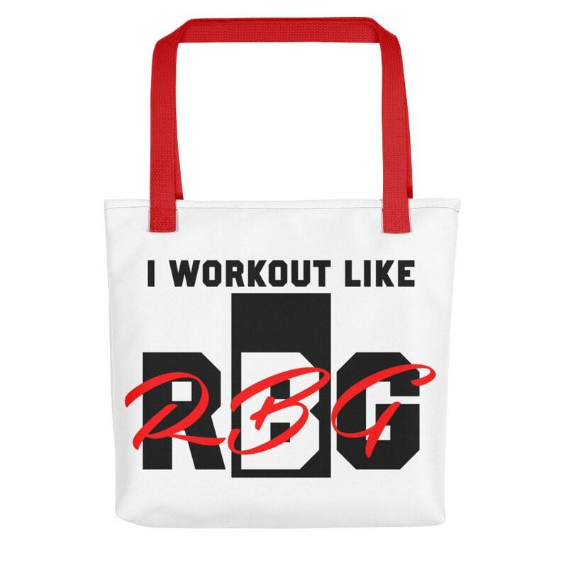 Funny Ruth Bader Ginsburg Workout Bag Feminist Workout Bag Funny Political Gym Bag For Liberals I Workout Like RBG Tote bag