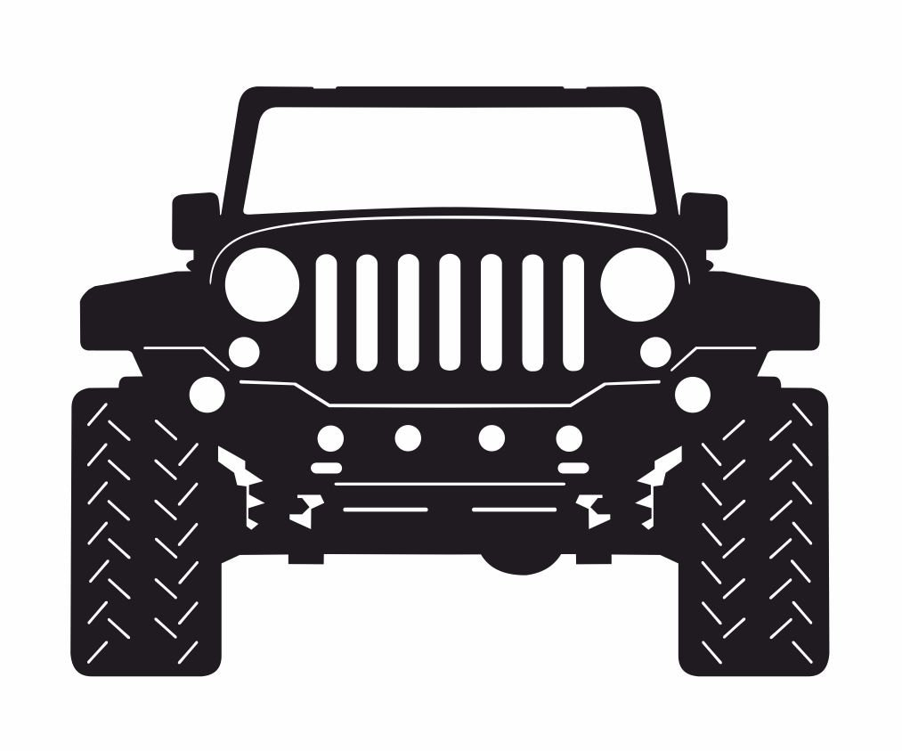 """12/"""" Only in a jeep button style auto ad decor wall art embossed USA metal sign"""