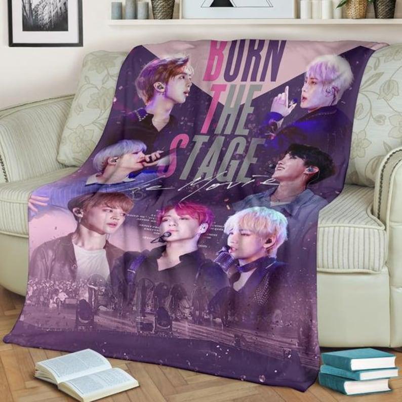 BTS Burn the Stage Blanket