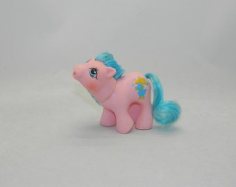 G condition Drink n wet My Little Pony PVC body,drink n wet pony wearing dragon costume G1 pony Baby Cuddles
