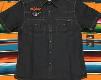 3f3dfd0e Custom Waylon Jennings Patch Dickies Western Shirt