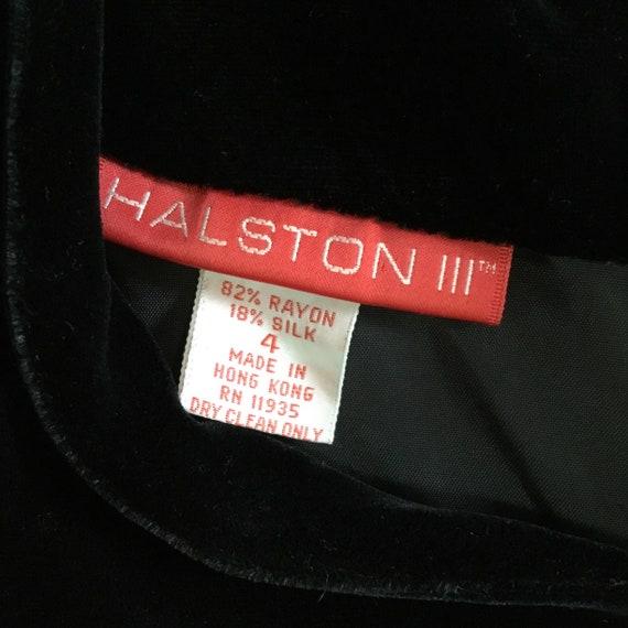 Vintage Halston III Black Velvet Bow Dress - image 9