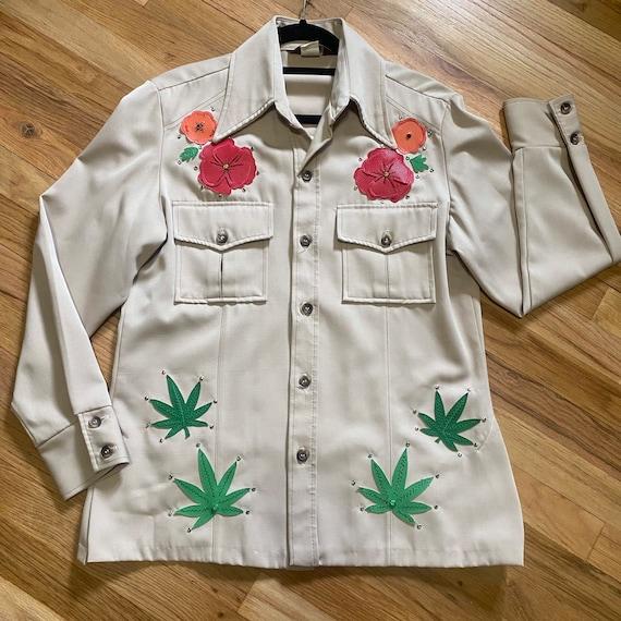 Vintage Western Leisure Jacket - Gram Parsons Nud… - image 2