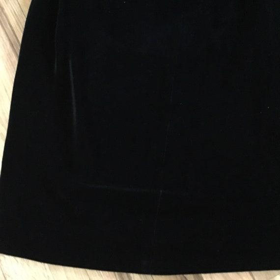 Vintage Halston III Black Velvet Bow Dress - image 7
