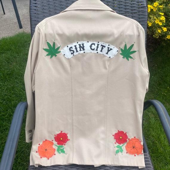 Vintage Western Leisure Jacket - Gram Parsons Nud… - image 4