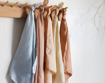 Naturally dyed silk scarf 100% Silk bandana Eco friendly Neckerchief Sustainable gift Minimal plant dyed fabric headband Male Female Scarves