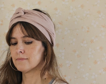 Organic cotton Head wrap Plant dyed Minimalistic Turban Sustainable Ethically made Eco friendly gift Naturally dyed Bohemian hair scarf