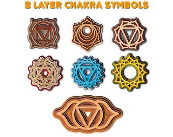 P1016-02-G Chakra Series Glossy Gold Plated Cubic Pointed Swadhisthana Pendant 2pcs
