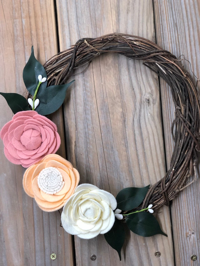 Floral Wreath Wall Hanging  Flowers