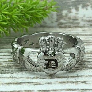 Love Loyalty Friendship Claddagh Band Personalize Claddagh Band Ring CQSSR561 Claddagh Rings Stainless Steel Celtic Claddagh Ring