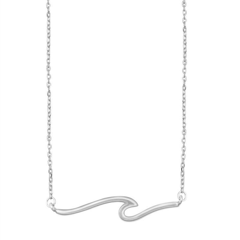 Stainless Steel Wave Necklace Dainty Necklace Gift for Her Wave Necklace Stainless Steel Ocean Wave Necklace