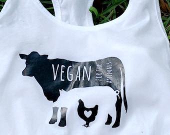Vegan for the Animals Women's Tank Top