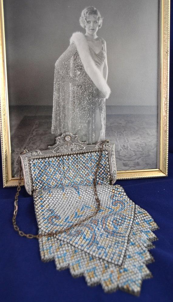 Mandalian Mesh Antique Handbag Bag Purse Tiffany S