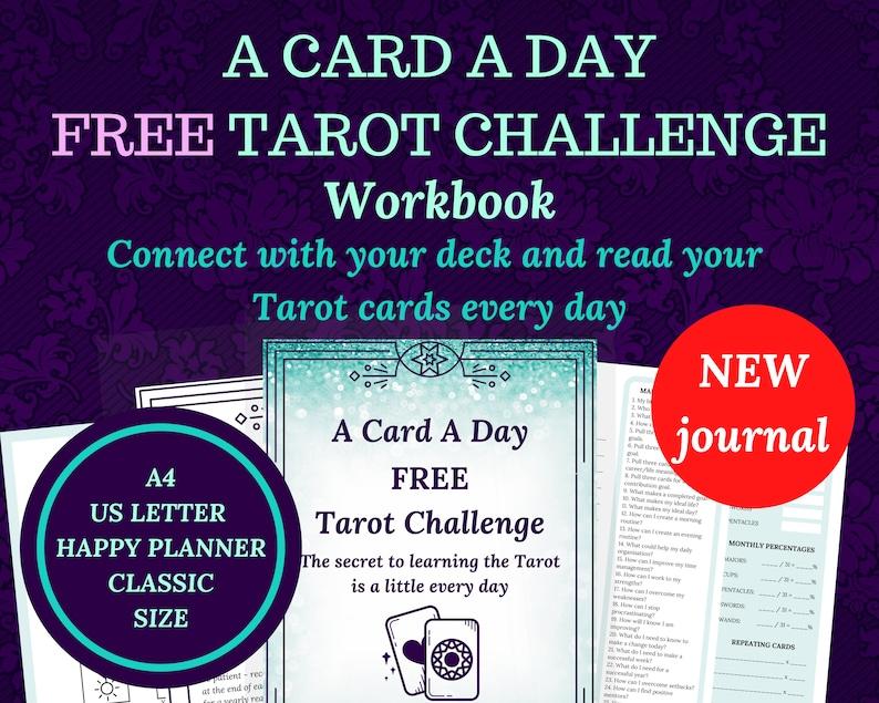 Tarot workbook calendar PLUS FREE daily challenge for image 0