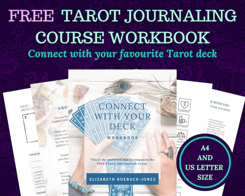 Tarot journal plus free course learn the tarot for beginners image 1
