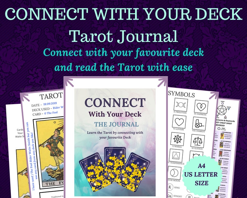 Tarot Journal Tarot Spreads Tarot Workbook Printable Ebook image 0