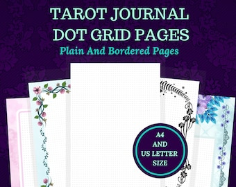 Printable A4 A5 US Letter Dot Grid Paper, Bullet Journal Dot Grid Paper, A4 Dot Grid Paper, for Bullet or Tarot Journal.