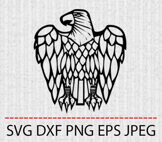 SVG Eagle head clipart tattoo Vector Layered Cut File Silhouette Cameo  Cricut Design Template Stencil Vinyl Decal Tshirt Heat Transfer Iron