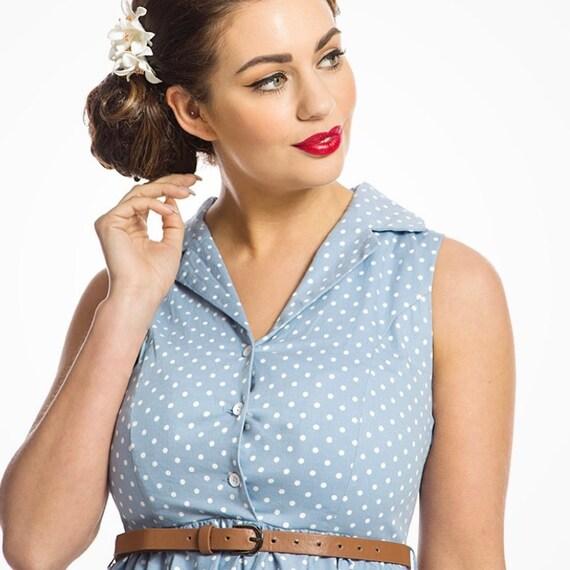 Lindy Bop Matilda Leopard Print Shirt Dress