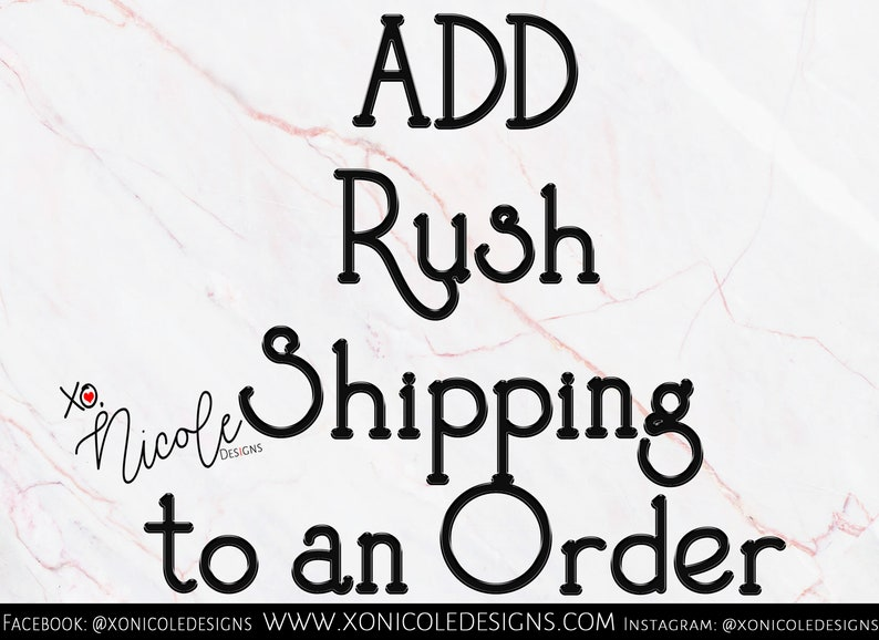 Add Rush Shipping to an order