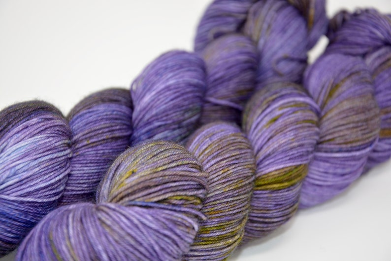 Hand Dyed Merino Nylon Sock Yarn Iris