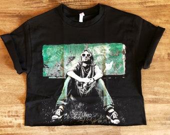 07be68fd58054 Kurt Cobain Crop top