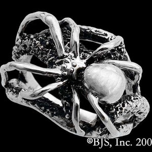 Includes Free US Shipping Spider Necklace on Web Spider Jewelry Black Widow Sterling Silver Spider Pendant Spiders