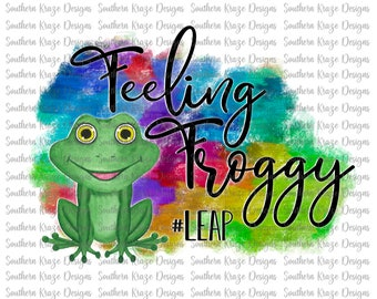 feeling froggy canvas patch