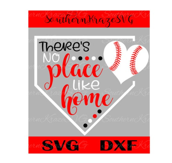 14+ Baseball Svg, There's No Place Like Home Cutting Files, Svg, Png, Eps, Dxf, Cut Files For Cameo/ Cricut & More. Crafter Files