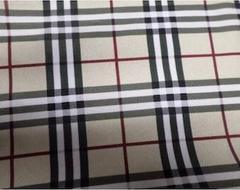 Burberry Inspired monogram Spandex fabric 03a881133219