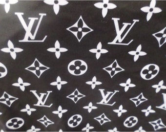 e483b6997a8 Monogram Inspired Spandex Fabric - Black