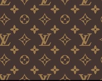 625ba23c3b6b Monogram Inspired Spandex Fabric - Brown
