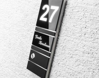 LED Taster unten Haustürklingel Klingel Klingelplatte Edelstahl 110x80mm Design