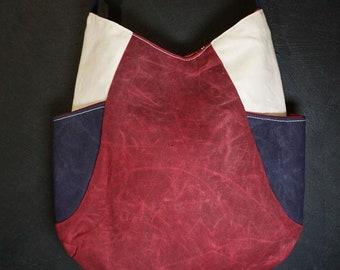 """Shoulder bag """"Blue, white, red"""""""