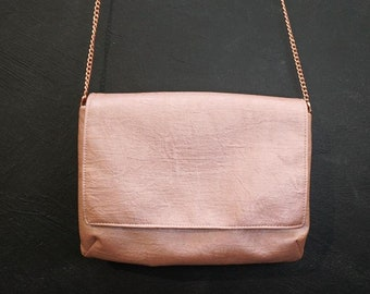"""Double-pouch bag """"Pearly copper"""""""